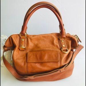 J CREW Leather Hobo cognac Bag. EUC. No flaws
